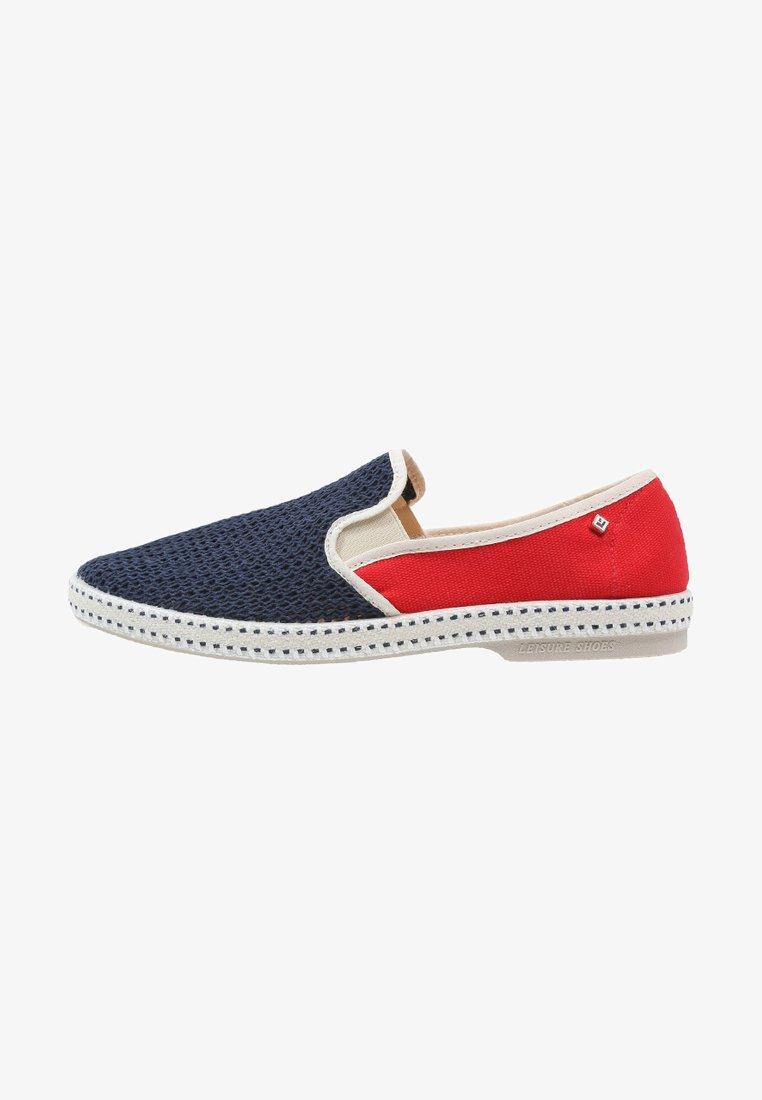 RIVIERAS - FRANCE - Slip-ons - navy/red