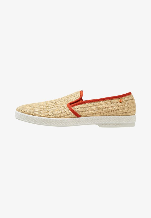DUDE - Espadrilky - beige/orange