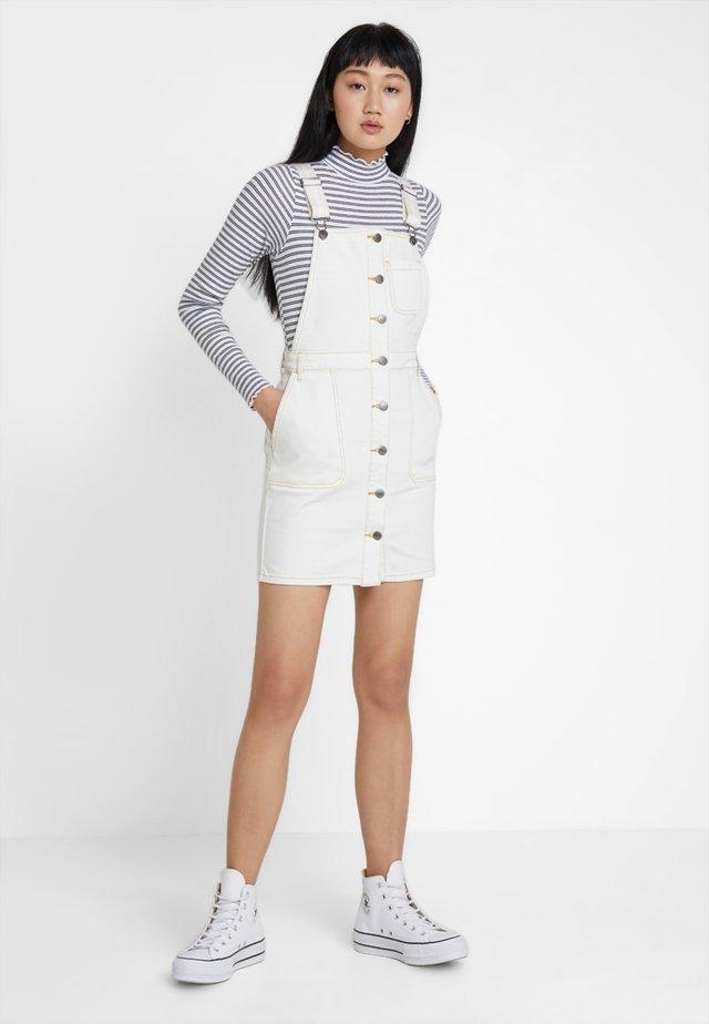 CONQUER - Denim dress - white