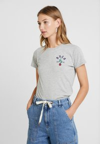 RVCA - ROSIE - T-shirt med print - athletic heather - 0