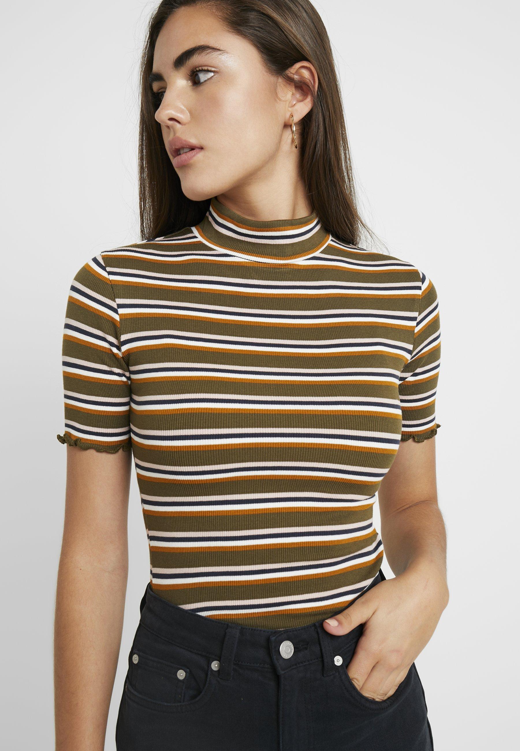 Slated Stampa Con Drab shirt Army TurtleneckT Rvca wNm08n