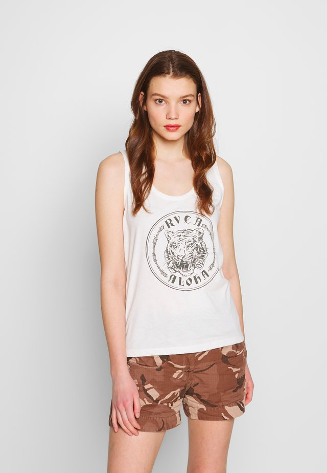 ALOHATIGER TANK - Linne - antique white
