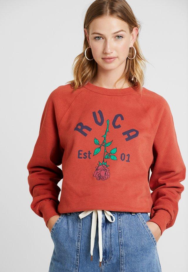 ROSIE CREW - Sweatshirt - burnt red