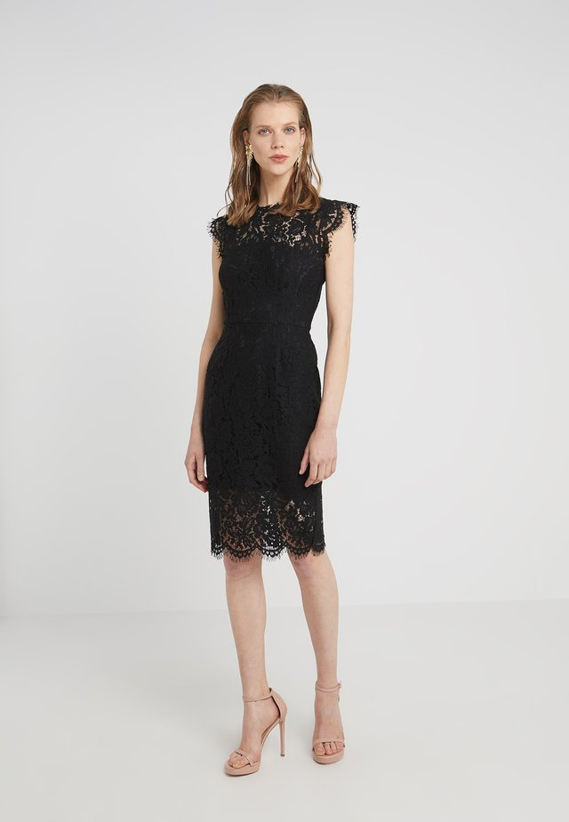 SUZETTE - Shift dress - jet black