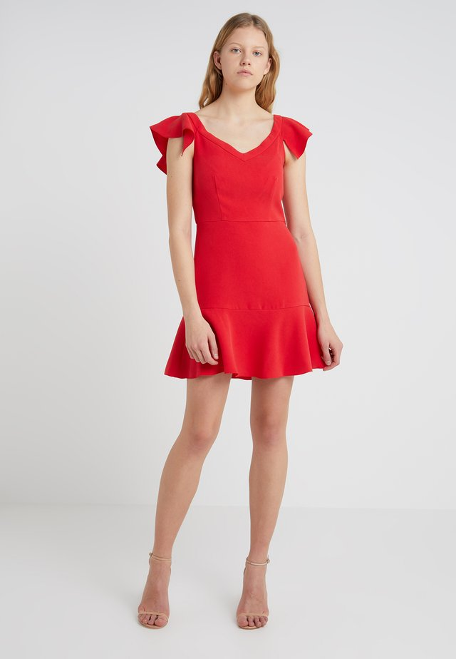 KENNEDY - Day dress - poppy red