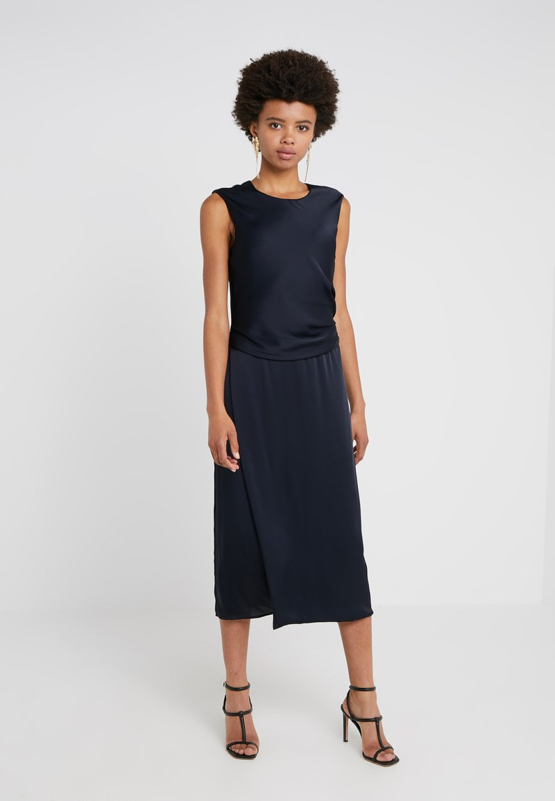 Strenesse - DRESS DRAPHE - Abito da sera - navy