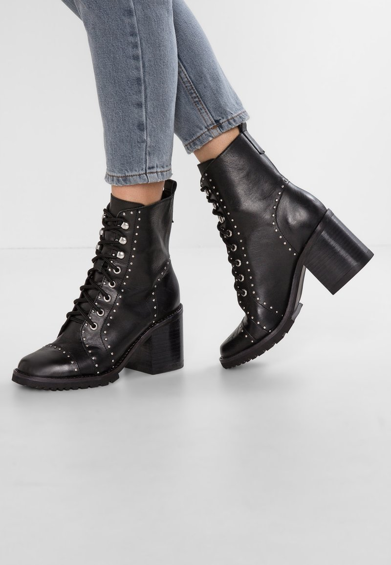 Sol Sana - DANNO BOOT - Lace-up ankle boots - black stud