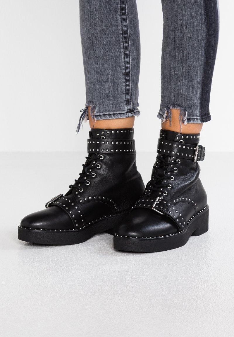Sol Sana - MERET BOOT - Cowboy/biker ankle boot - black