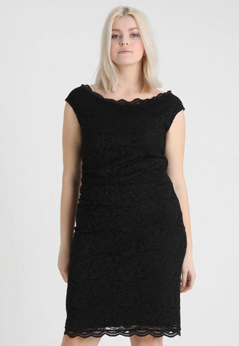 Swing Curve - EXCLUSIVE SWING BARDOT BODYCON DRESS - Koktejlové šaty/ šaty na párty - black