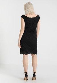 Swing Curve - EXCLUSIVE SWING BARDOT BODYCON DRESS - Koktejlové šaty/ šaty na párty - black - 3