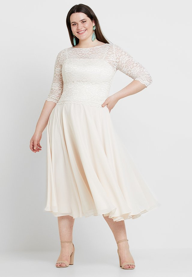 BRIDAL EXCLUSIVE SWING MIDI DRESS - Cocktail dress / Party dress - peach/offwhite