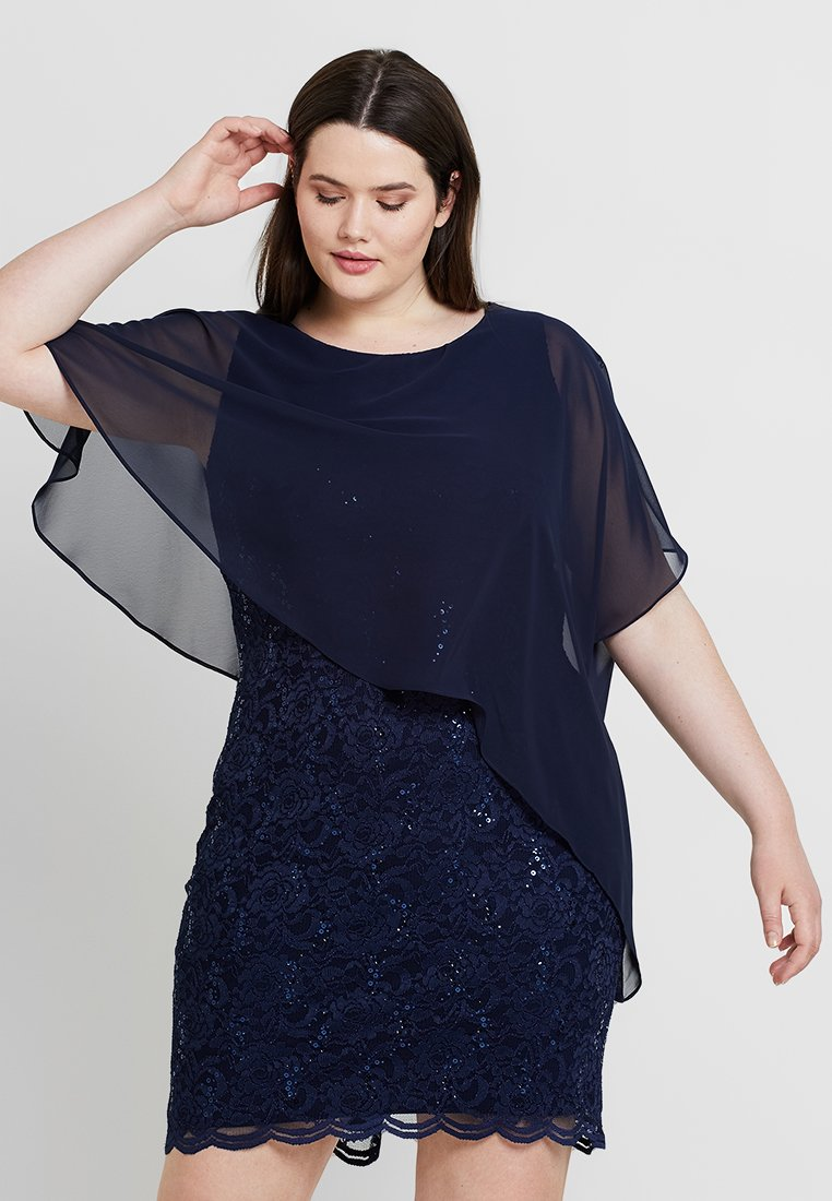 Swing Curve - EXCLUSIVE OVERLAY SEQUIN DRESS - Cocktail dress / Party dress - navy