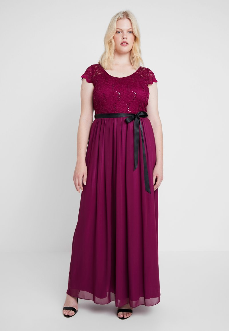 Swing Curve - COCKTAIL DRESS - Shirt dress - beere