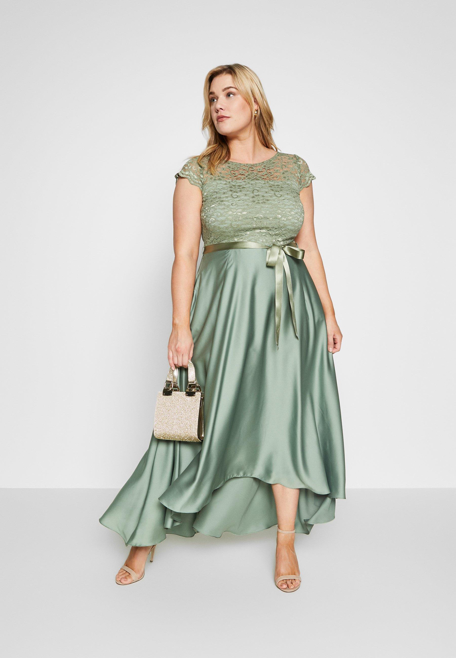 Swing Curve Exclusive Dress - Robe De Cocktail Khaki
