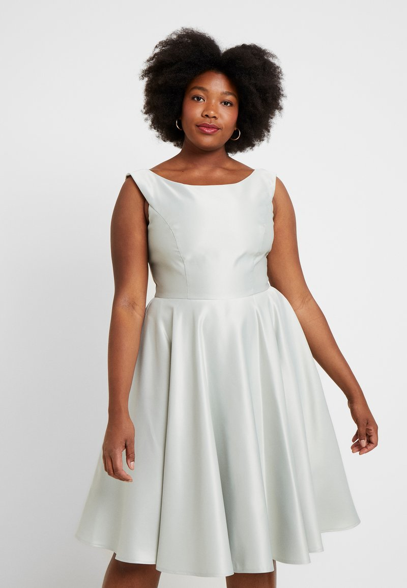 Swing Curve - Cocktail dress / Party dress - whitegreen