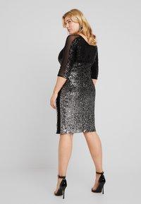 Swing Curve - Cocktail dress / Party dress - silber/schwarz - 3