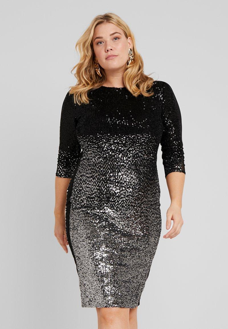 Swing Curve - Cocktail dress / Party dress - silber/schwarz