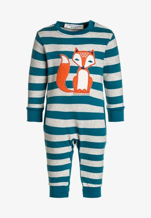 BABY STRINDBERG ROMPER - Babygrow - teal/grey