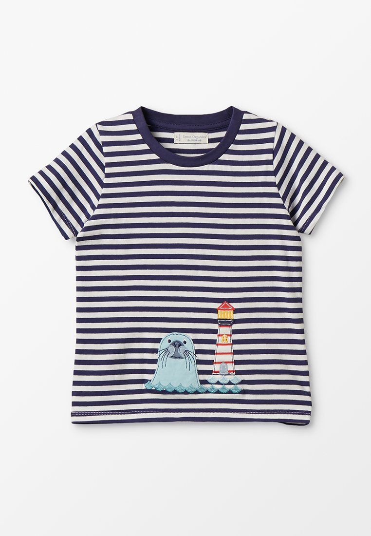 Sense Organics - IBON - T-Shirt print - navy/ seal appliqué