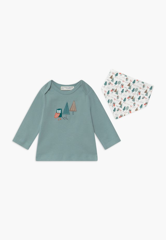 TIMBER RETRO BABY SET - Long sleeved top - stone blue