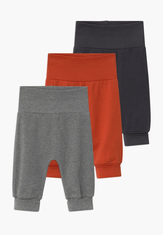 SJORS BABY 3 PACK - Trousers - chili/navy/grey melange