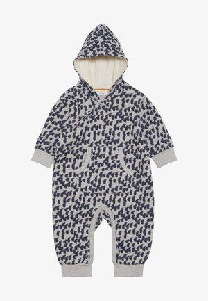 ANOKI BABY HOODED OVERALL - Jumpsuit - grey melange