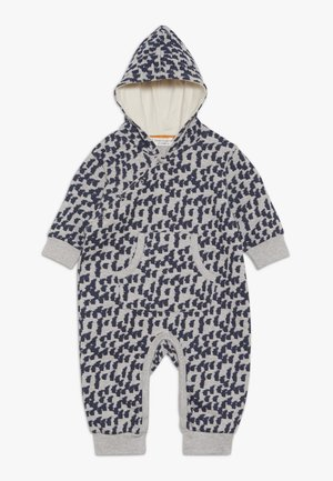 ANOKI BABY HOODED OVERALL - Jumpsuit - grey melange