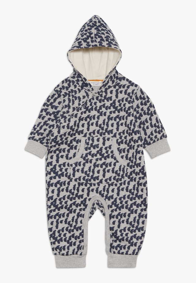 ANOKI BABY HOODED OVERALL - Overall / Jumpsuit - grey melange