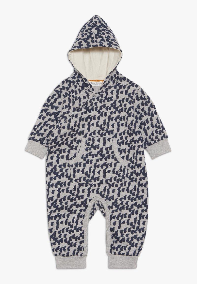 Sense Organics - ANOKI BABY HOODED OVERALL - Mono - grey melange