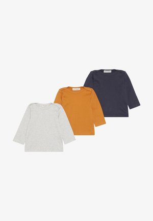 LUNA BABYS 3 PACK - Pitkähihainen paita - mustard/navy/grey melange