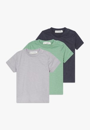 TEE BABY 3 PACK - T-shirt basic - green/navy/lilac grey