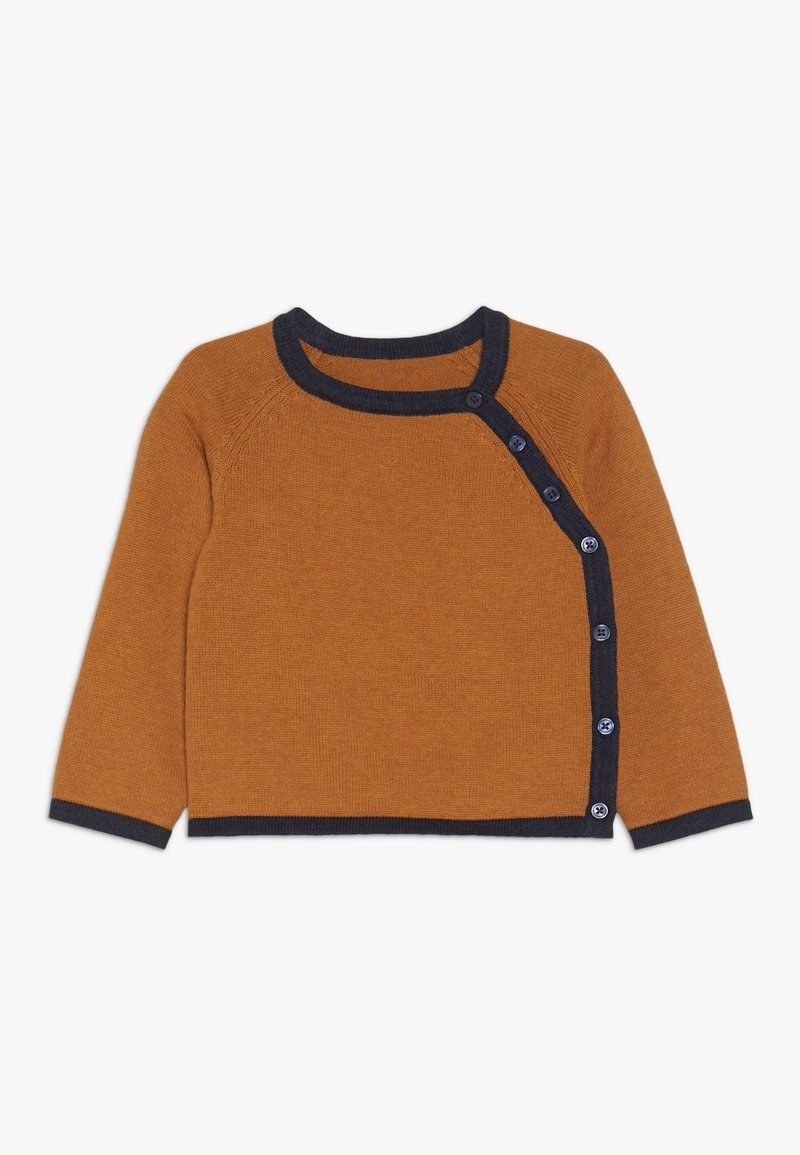 Sense Organics - PICASSO BABY WRAP JACKET - Kardigan - rusty orange