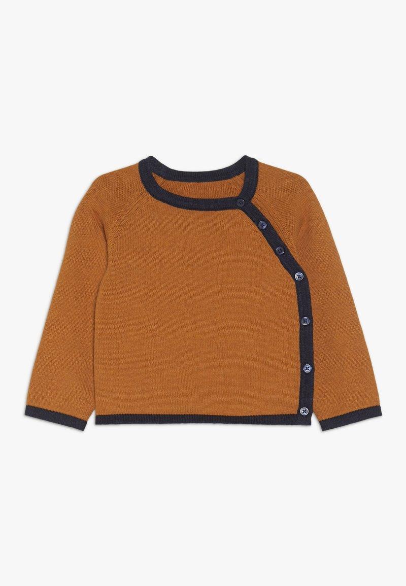 Sense Organics - PICASSO BABY WRAP JACKET - Chaqueta de punto - rusty orange