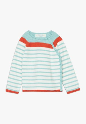 PICASSO BABY WRAP  - Strickjacke - light turquoise/ivory