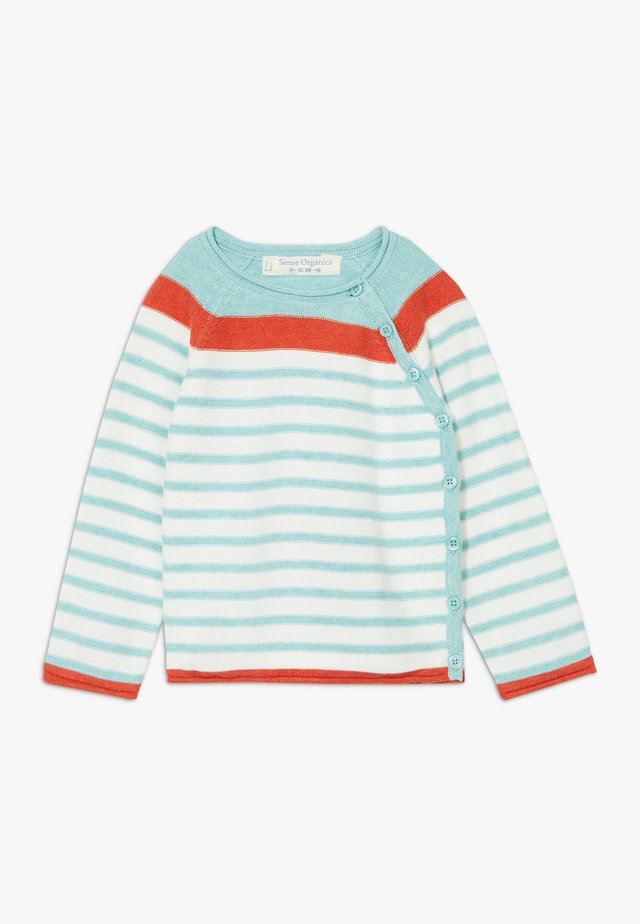 PICASSO BABY WRAP  - Cardigan - light turquoise/ivory