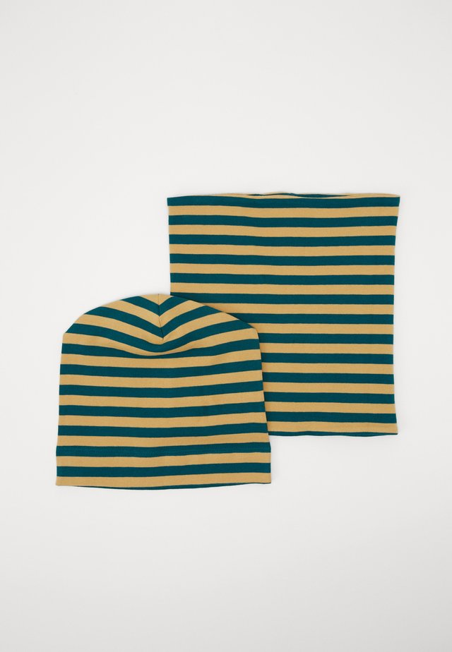 KAI HAT + SUSU ROUND SCARF SET - Pipo - teal/curry
