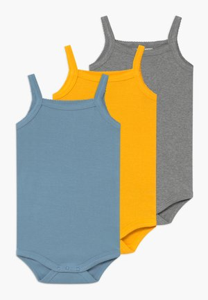 SINGLET BABY 3 PACK - Body - yellow/denim/grey