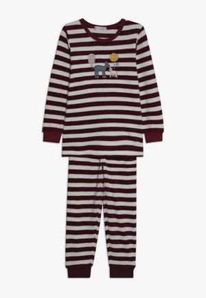 LONG JOHN RETRO - Pyjama set - beet red
