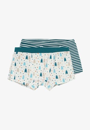 PRINCE RETRO BOXERSHORTS 2 PACK - Panties - mottled teal/ multi coloured