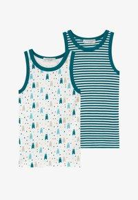Sense Organics - RETRO 2 PACK - Undershirt - mottled teal/multi-coloured - 3