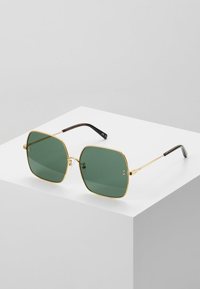 Sunglasses - gold-colured/green