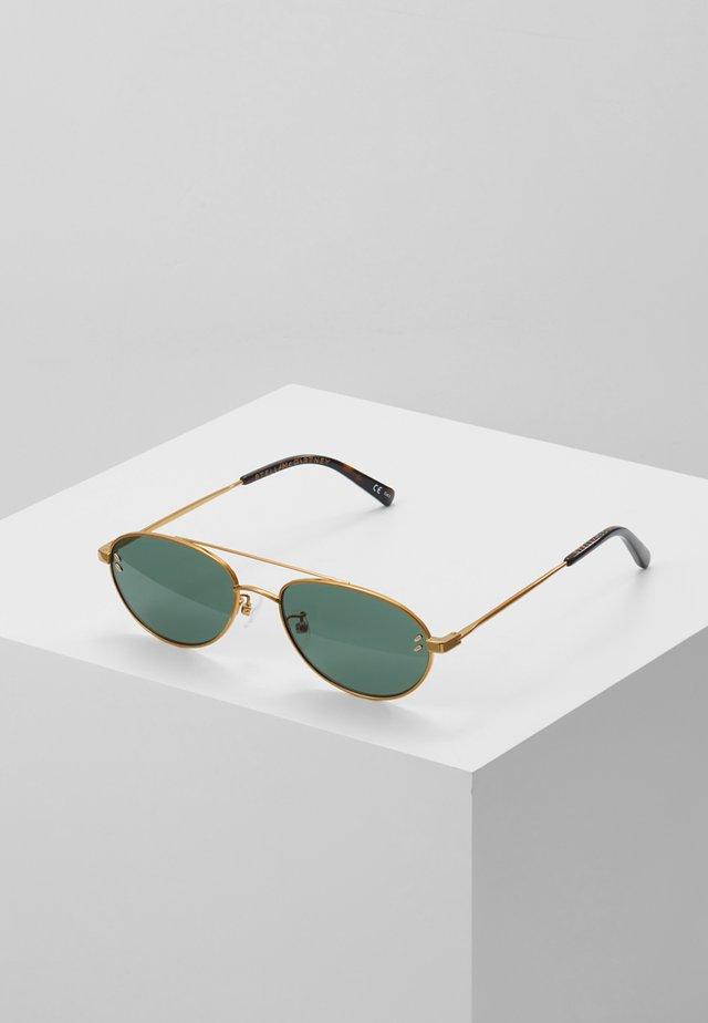 Sonnenbrille - gold-coloured/green
