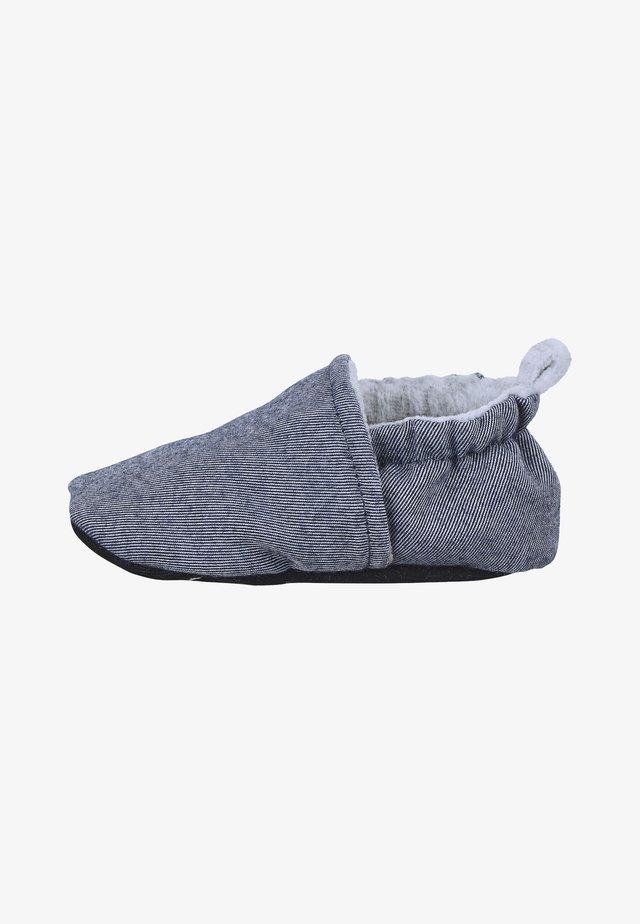 STOFFSCHUHE SOMMER BABY-KRABBELSCHUH - Baby shoes - mittelblau