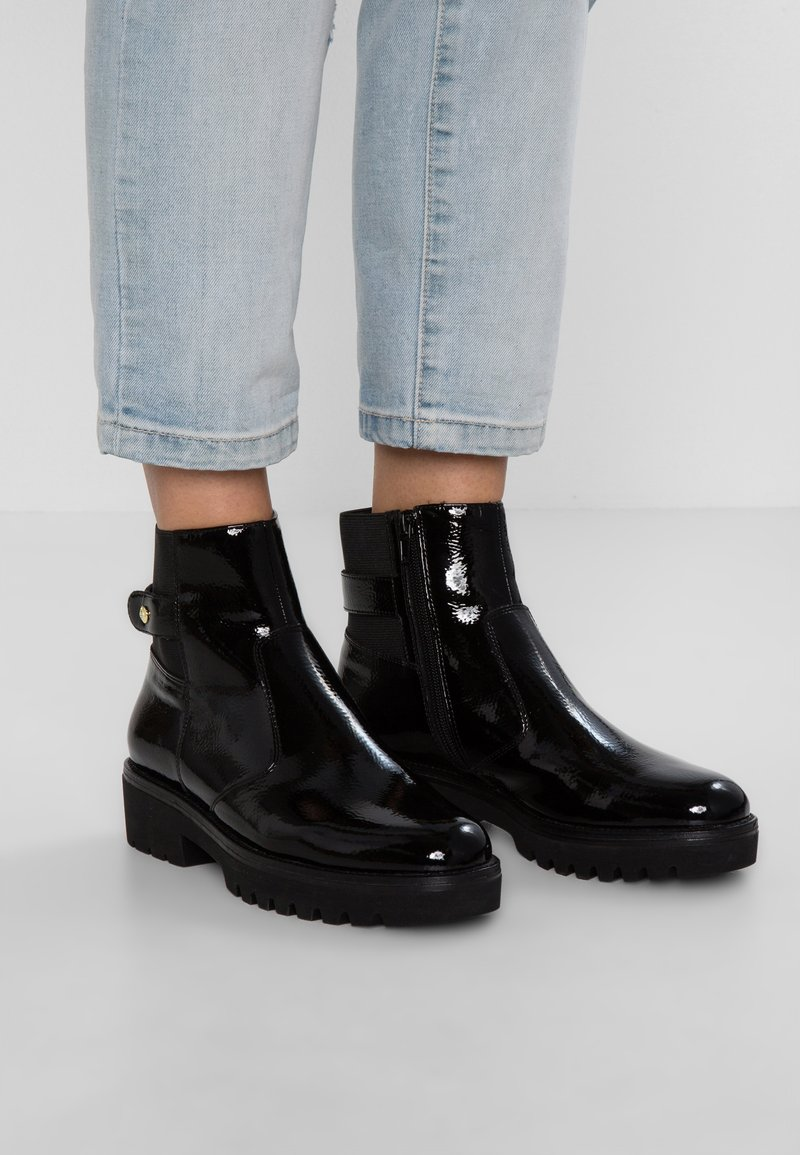Stonefly - PERRY  - Platform ankle boots - black