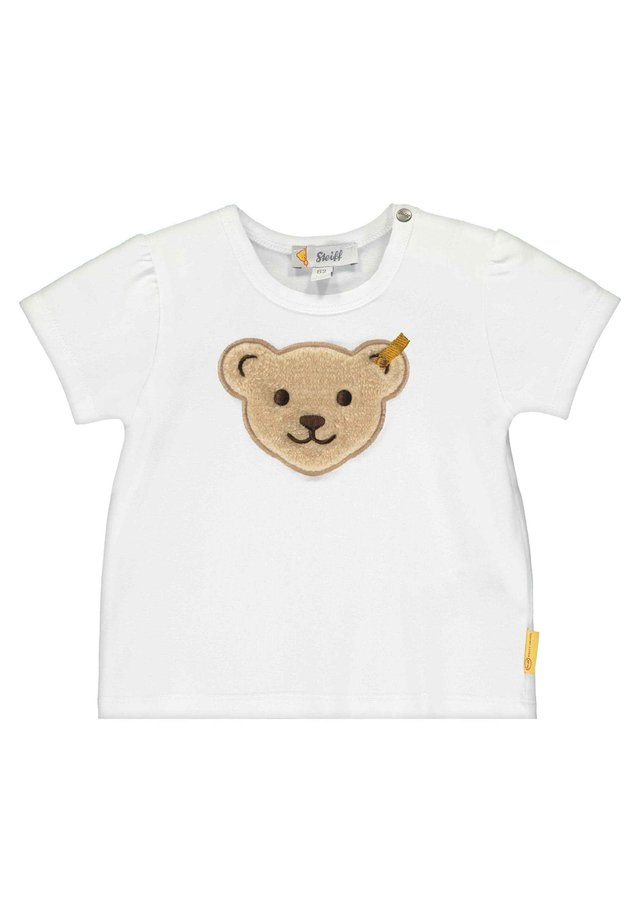 STEIFF COLLECTION T-SHIRT MIT GROSSEM TEDDYBÄRKOPF - T-shirt imprimé - bright white