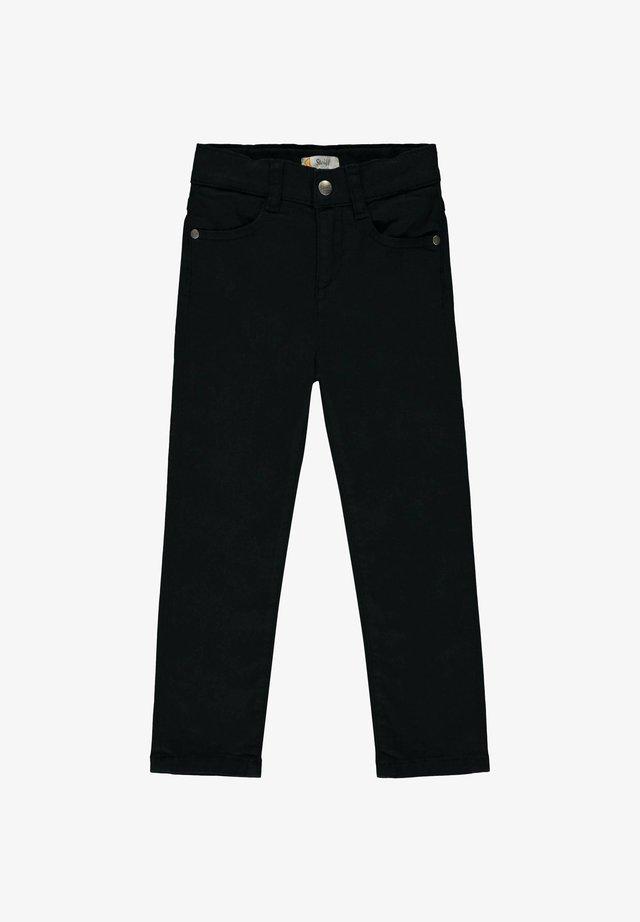 STEIFF COLLECTION HOSE MIT TEDDYBÄRFÖRMIGEN TASCHEN - Straight leg jeans - black iris