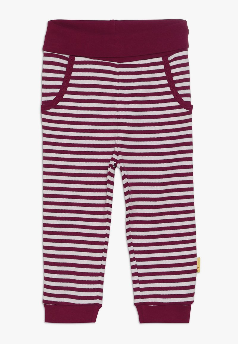 Steiff Collection - GIRLS STRIPE JOGGER BABY - Trousers - red