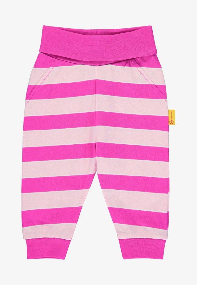 MIT STREIFEN UND TEDDYBÄRMOTIV - Pantalon de survêtement - pink