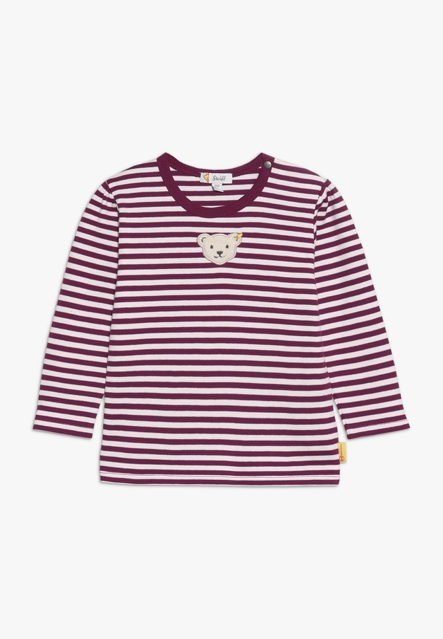 GIRLS STRIPE BABY - Long sleeved top - red