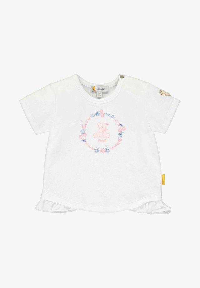 STEIFF COLLECTION T-SHIRT MIT KIRSCH- UND BLÜTENMOTIVEN - T-shirt imprimé - bright white